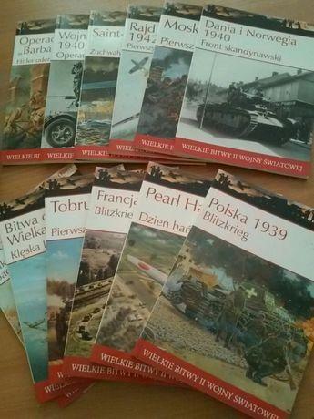Książki: Wielkie bitwy II wojny światowej +filmy dvd