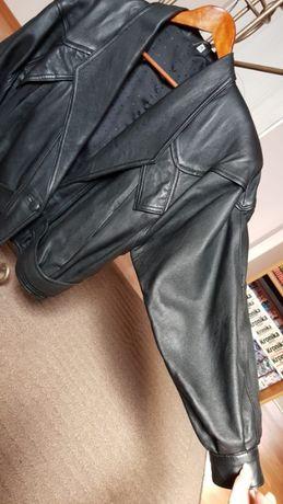 Kurtka skórzana damska skóra czarna vintage r. S M