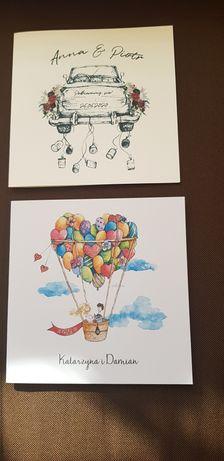 Próbki zaproszeń ślubnych 4 wzory + kolorowe koperty
