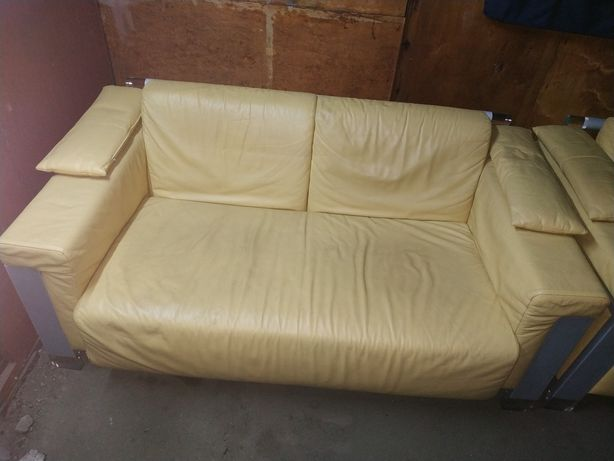 Кожаный диван 2 кресла LINEA ITALIA
