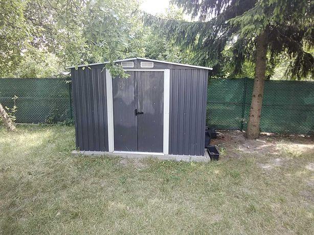 Komórka magazynek drewutnia garaż ogrodowy blaszany do przeniesienia