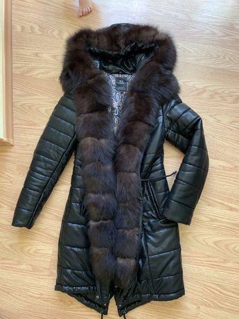 Парка  с мехом соболь/ Куртка с мехом