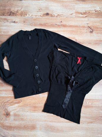 Sweterek w serek Next +sweterek rozpinany H&M rozm M