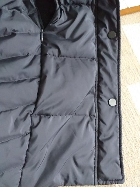 Плащ пуховик куртка капюшон пух