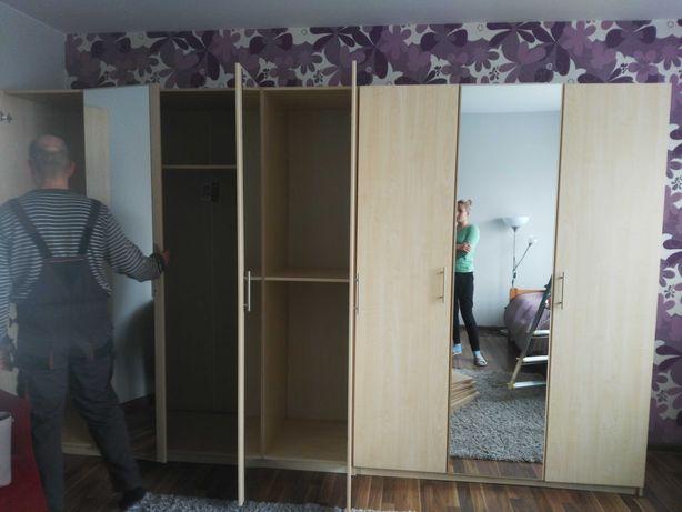 Sypialnia BRW Dream 2 szafy, łóżko, komoda, szafki nocne, lustro