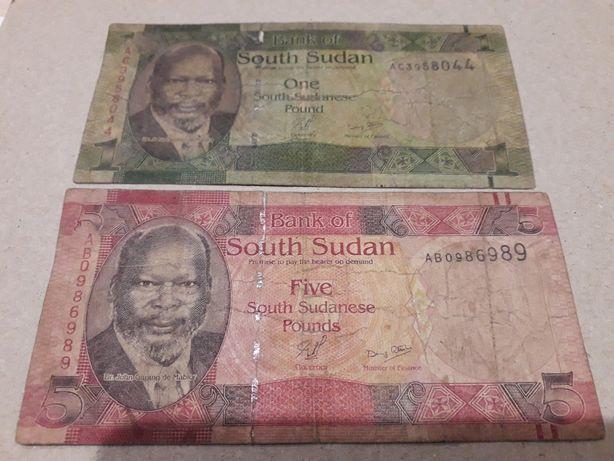 Фунты Южного Судана 1 и 5
