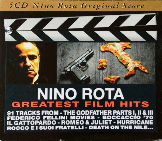 Nino Rota zestaw kolekcjonerski 5 cd, Godfather I, II, II, Fellini