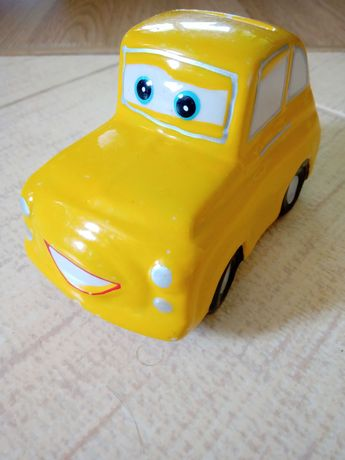 Skarbonka żółte auto Garbi