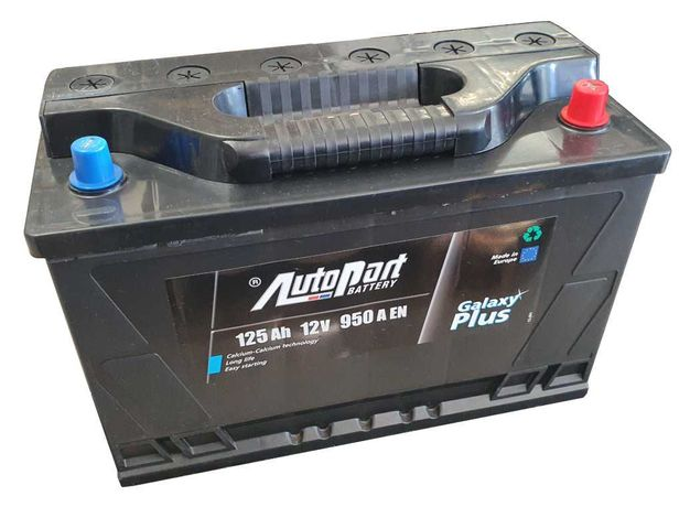 Akumulator Autopart Galaxy 125Ah 950A zamiennik 120Ah 110Ah