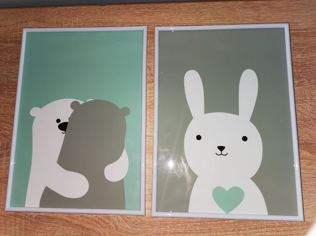 Plakaty do pokoju dziecka format A3 Nowe 2 szt TANIO!!!