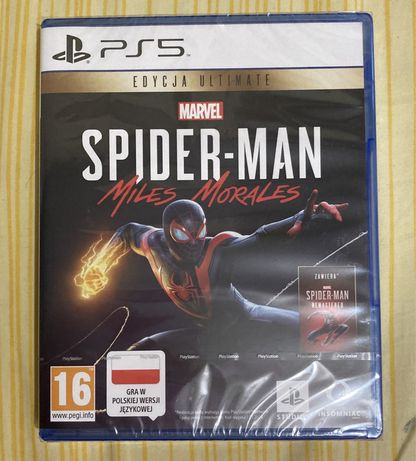Spider-Man Miles Morales ULTIMATE PS5 NOWA + Remastered