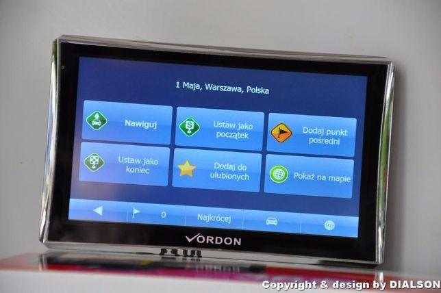 Nowa Nawigacja Samochodowa VORDON 5' Dożywotnio Mapy EU PL GPS AV FVAT