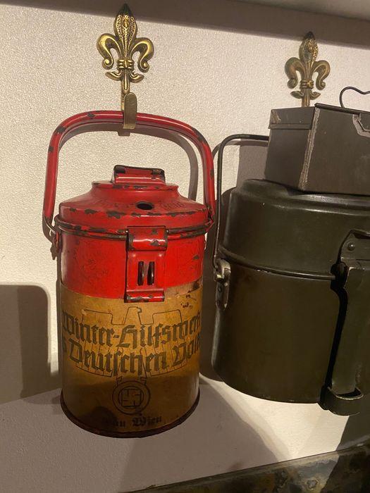 Mealheiro de peditório Alemão Nazi segunda guerra Original Vila Nova de Milfontes - imagem 1