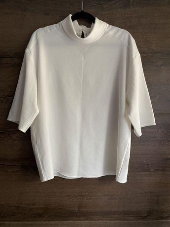 Bluzka koszula koszulka oversize ze stójką golf golfem elegancka xl 44