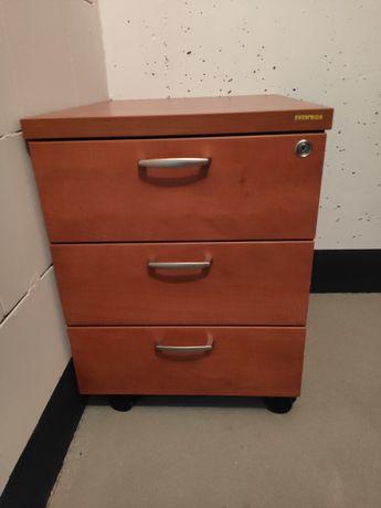 Kontener pod biurko na kółkach z kluczykiem