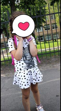 Hm комплект костюм футболка и юбка на девочку