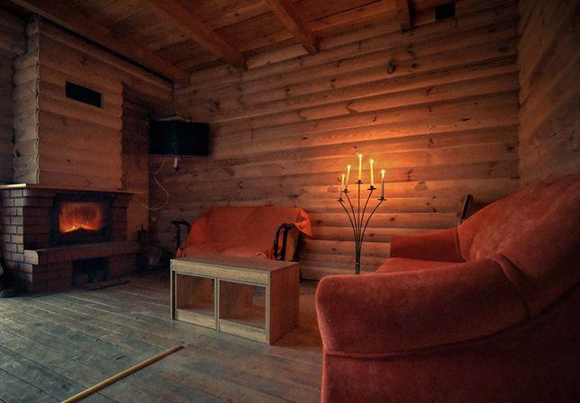 EKOLOGICZNY dom drewniany nad jeziorem z balią z jacuzzi i saun