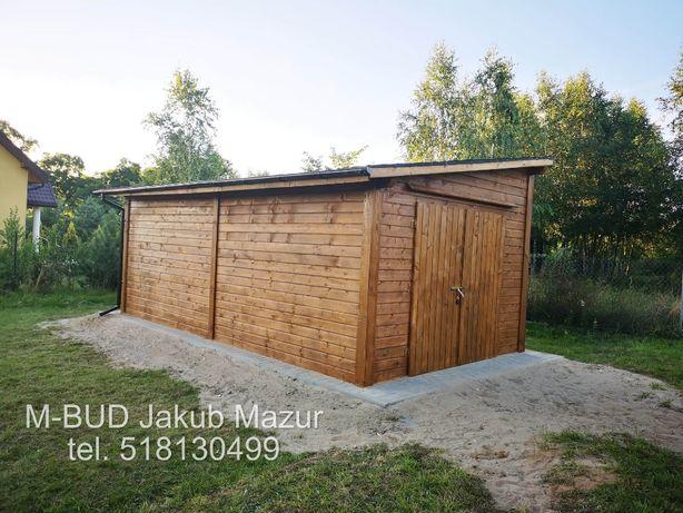 Garaż drewniany, domek narzędziowy, drewutnia