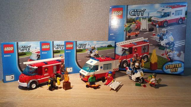 LEGO 60023 Набор для начинающих Скорая, Пожарная машина, Полиция