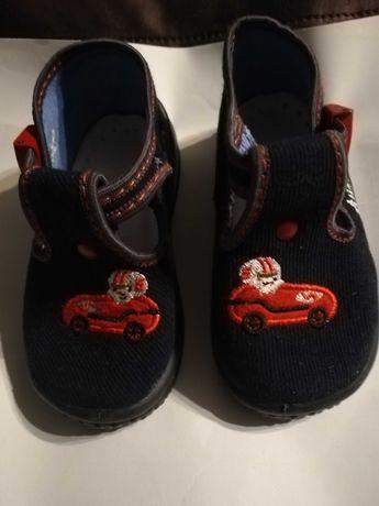 Ciapki, buciki materiałowe, wkładka skórzana Nowe r 20