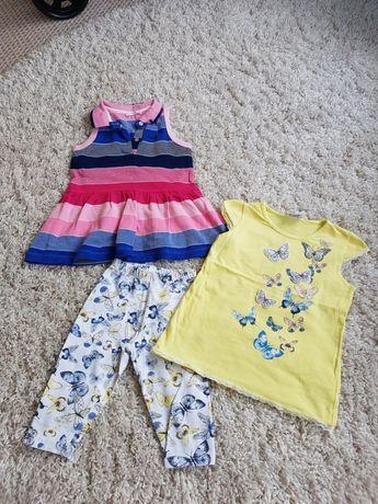 Набор одежды платье футболка бриджи на 3 - 4 годика для девочек