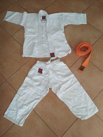 Kimono Essimo, 120 cm, żółty pas, karate, judo
