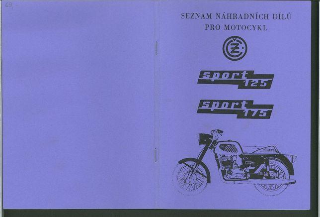 Katalog części motocykla Cezet 125 Cezet 175