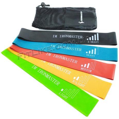 Резинки для фитнеса IronMaster поштучно+наборы/ленты/петли/эспандер