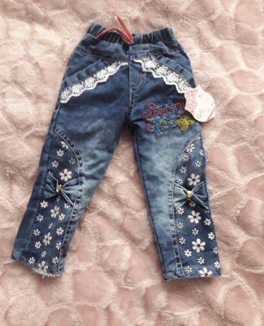 Тёплые джинсовые штанишки