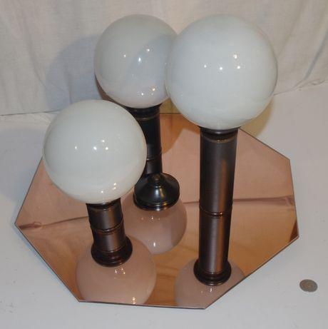 Lampa sufitowa z lustrem na 3 żarówki gwint E14