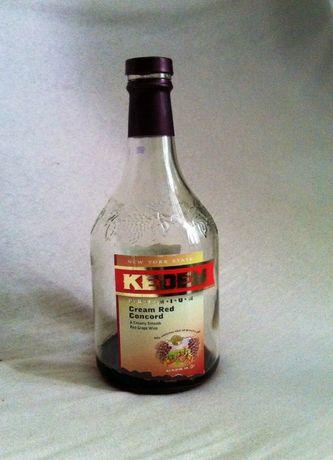 Бутылка 1.5л от вина с гравировкой стильная с закручивающейся пробкой