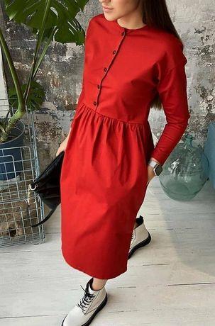 Платье пошив Mirka 56р красное