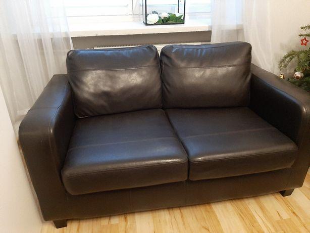 Czarna sofa eko skóra