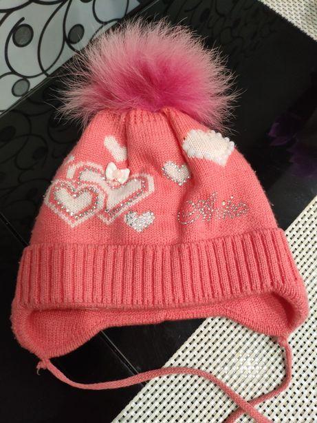 Шапка зимняя,комплект шапка и шарф