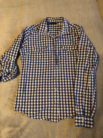 Niebieska koszula krata diverse