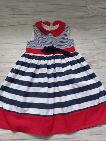 Bawełniana sukienka 122 w paski