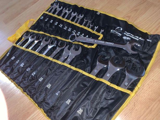 Качественный набор комбинированных рожково-накидных ключей 25 ед 6-32