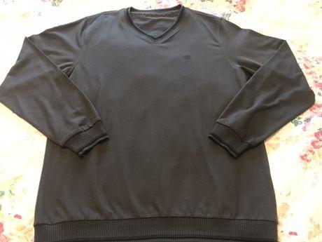 Sweter męski XL 170-176 stalowy