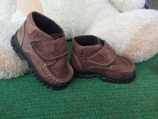 Шкіряні сапоги, ботинки утеплені демісезонні р.20, 12 см
