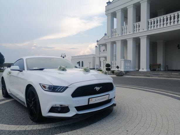 Auto do Ślubu - Biały Ford Mustang