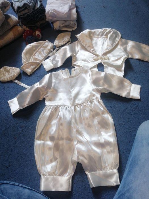 Ubranko komplet do chrztu garnitur dla chłopca Stypułów - image 1