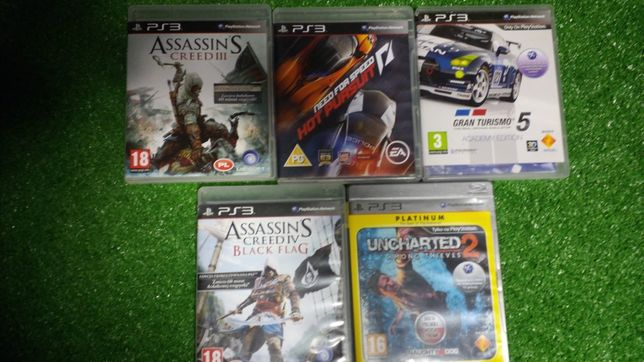 Gry na PS3 assassin's uncharted NFS hot prusiut GT5