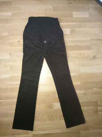 Spodnie ciążowe H&M sztruks czarne 36