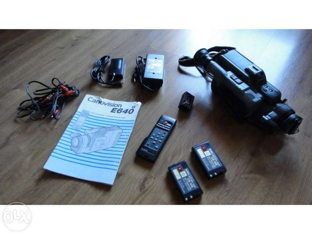 Máquina de filmar Canonvision E640
