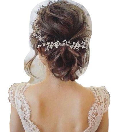 Gałązka do włosów, stroik ślubny
