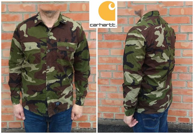 carhartt mission camo shirt рубашка M оригинал - идеал
