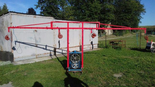 Sprężarka sadownicza + sekatory pneumatyczne Campagnola