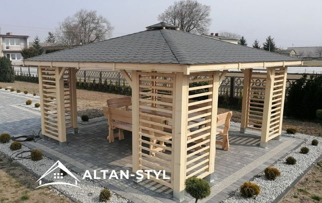 Altany, altanki, wiaty, altana ogrodowa MAJA 3x3m PRODUCENT