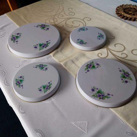 Skandynawski metalowe podstawki pod naczynia