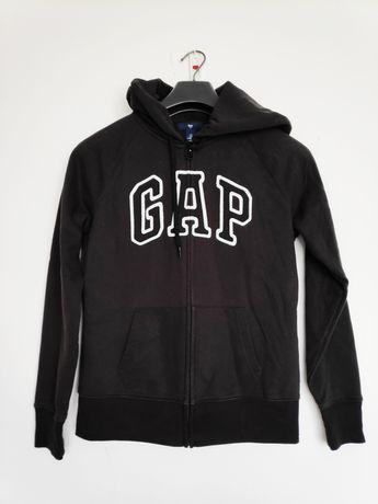Bluza z kapturem damska GAP 36 S czarna oryginalna z Zalando